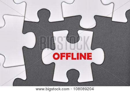 Jigsaw Puzzle Written Word Offline