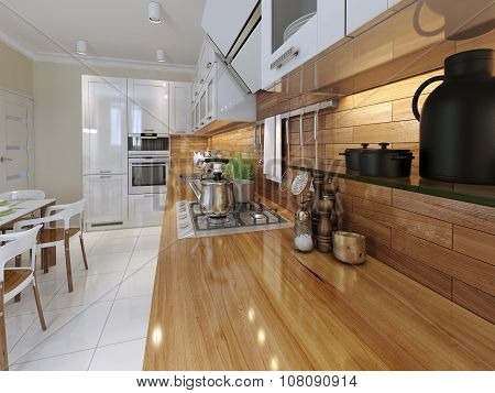 Kitchen Worktop With Accessories