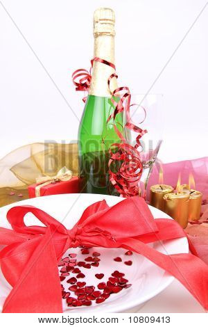 New Year's or Valentine's setting