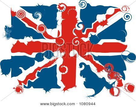 Distorted Union Jack - Vector