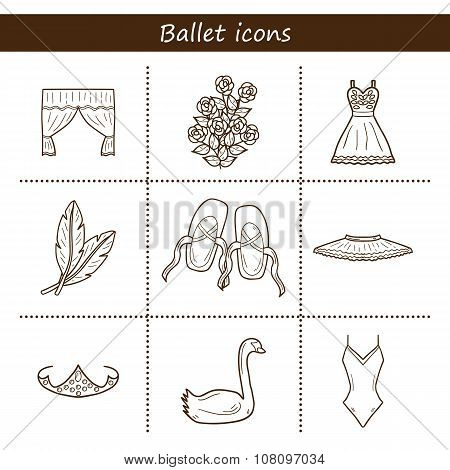 Objects on ballet them