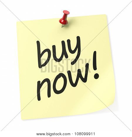 Buy Now Yellow Sticky Note