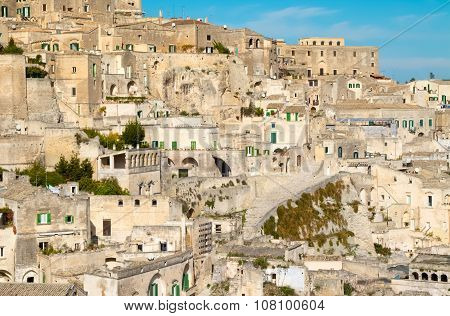 Panoramic View Of Typical Stones (sassi Di Matera) Of Matera