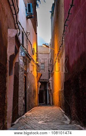 Dawn In The Alley Of Marrakech
