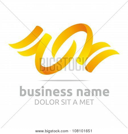 Logo abstract shapes icon vector
