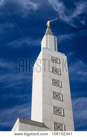 Angel Moroni Statue Atop The Los Angeles California Temple