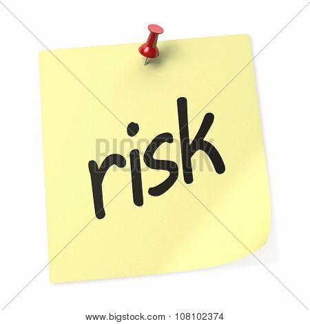 Risk Yellow Sticky Note