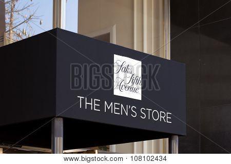 Saks Fifth Avenue Men's Store Entrance