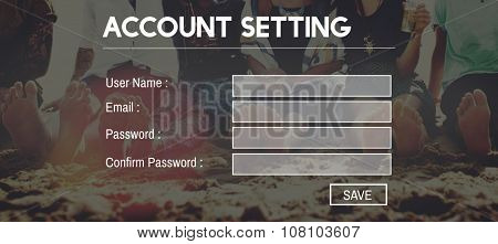 Accounting Setting Security Username Application Concept