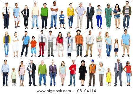 Group Multiethnic Diverse Mixed Occupation People Concept