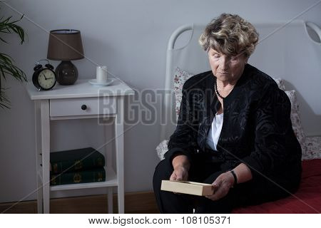 Woman Mourning Her Dead Husband