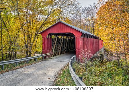Pine Bluff Covered Bridge Autumn
