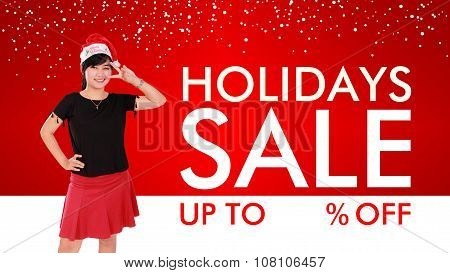 Holidays Sale Background Design