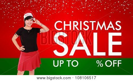 Christmas Sale Background Design
