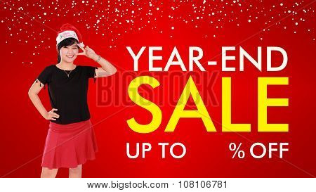 Year-end Sale Background Design