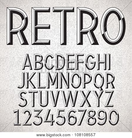 Vector Metal Embossed Font