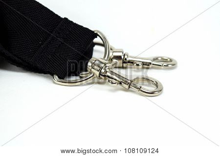 Black Belt Rope Strap Lanyard, Clasp Snap