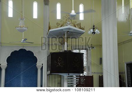 Mimbar of Mersing Jamek Town Mosque