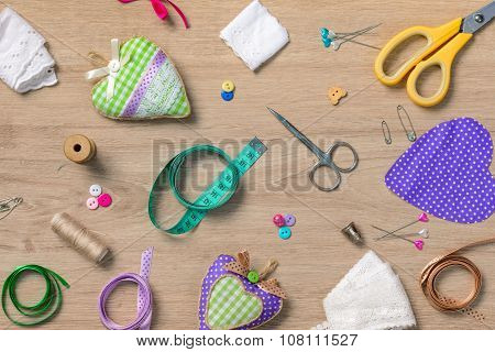 Sewing objects wallpaper
