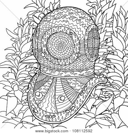 Coloring pages of designs