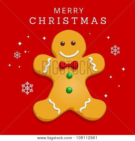 Christmas Greeting Card - Gingerbread Man