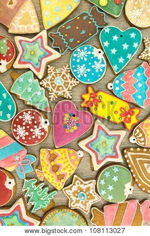 Various Homemade Christmas Cookies