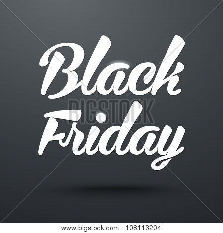 Black Friday Calligraphic Poster. Vector Banner with lettering