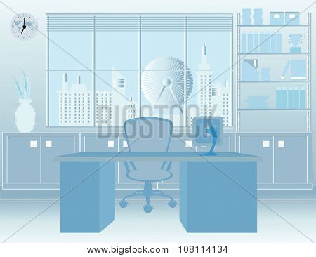 Modern Room Office Interior.
