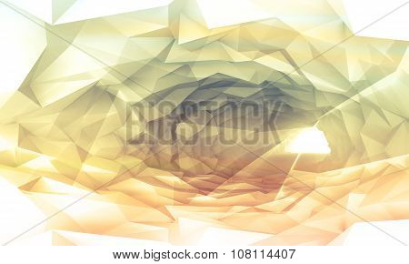 Shining Colorful Tunnel Background With Crystal Relief