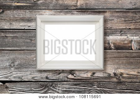 Picture Frame Hanging On Wooden Wall