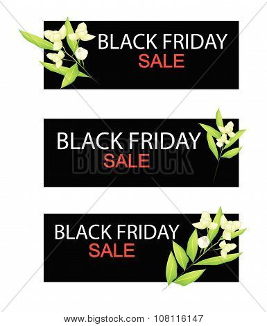 Ylang Ylang Flowers On Black Friday Sale Banner
