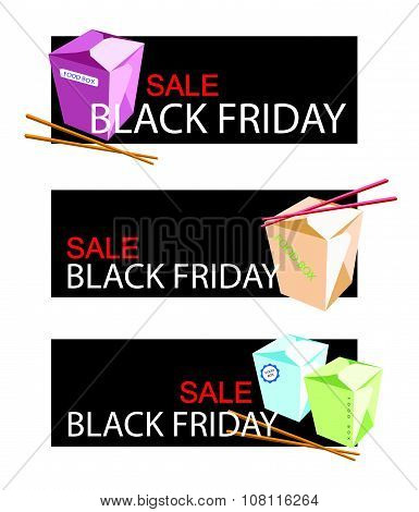 Food Boxs On Black Friday Sale Banner
