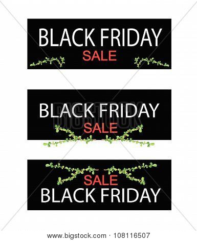 Bonsai Tree On Black Friday Sale Banner