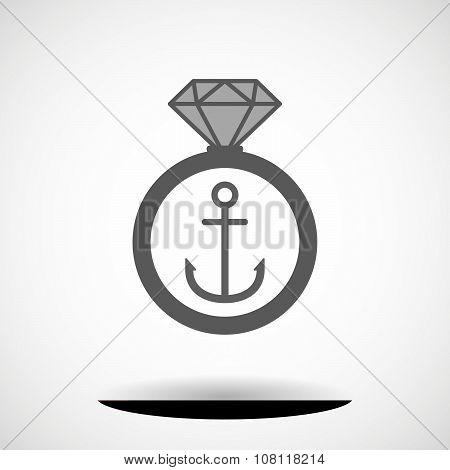 Vector Ring Icon With A Cursor