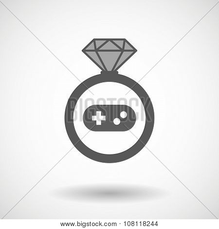 Vector Ring Icon With A Game Pad