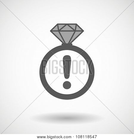 Vector Ring Icon With An Admiration Sign