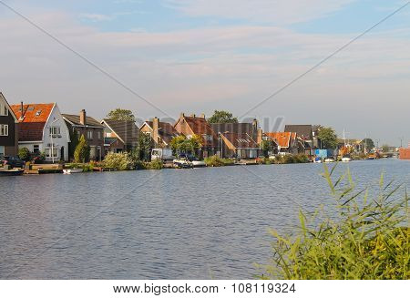View Of The Canal Ringvaart From Zwanenburg, The Netherlands