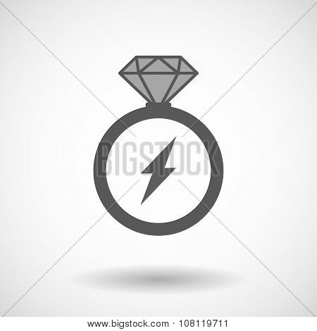 Isolated Vector Ring Icon With A Lightning