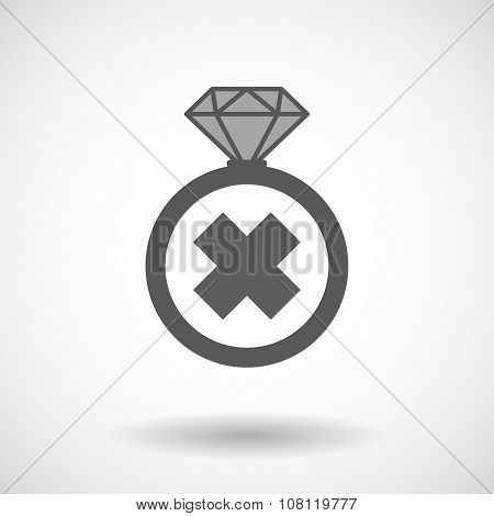 Isolated Vector Ring Icon With An Irritating Substance Sign