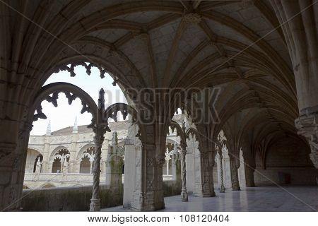 Hallway Of The Jeronimos Monastery