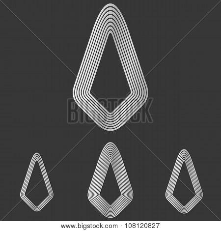 Silver line success logo design set
