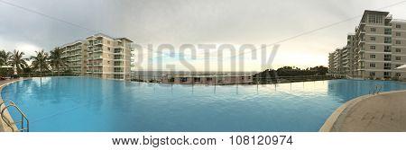 Swimming Pool At The Modern Luxury Resort