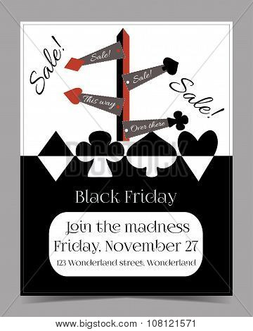 Direction Arrows. Black Friday Banner Card Brochure