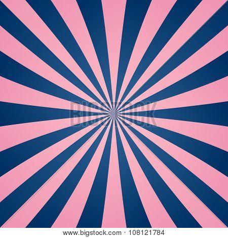 Pink blue ray burst background