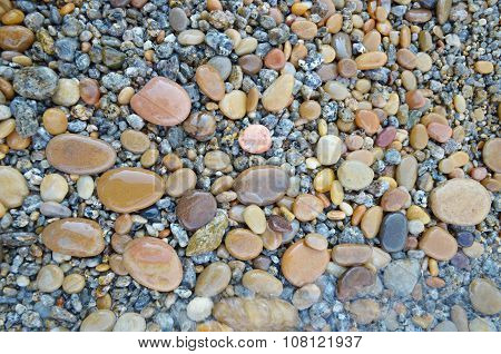 Colored Smooth Stones Polished By Baikal Lake Skillfully