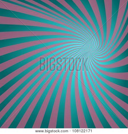 Cyan vintage spiral background