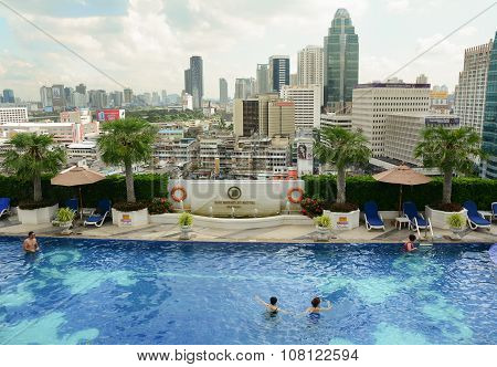View Of The Infinity Swimming Pool