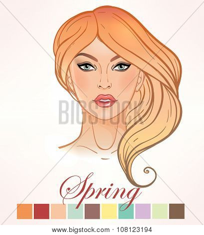 Seasonal skin color types for women Spring.