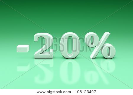 -20% Significant Discounts For The Goods And Services. Dumping
