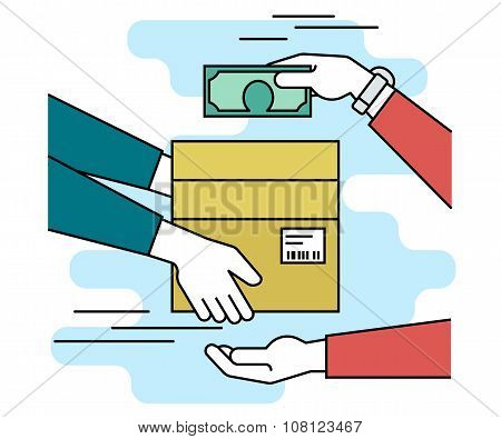 Payment by cash for express delivery